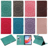 For Apple iPad Sunflower PU Leather Flip Wallet Stand Card Slots Case Cover