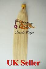 """20"""" 1g 7A* Stick/I-Tip Double Drawn Indian Remy Human Hair Extensions UK 1st"""
