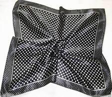Black dots Soft Neckerchief Shawl Head Bandanas Square Scarf Satin