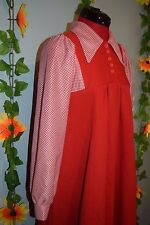 Mignon Vintage 60 s 70 s Jonathan D rouge robe-tablier Northern Soul/MOD