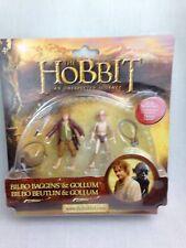 "THE HOBBIT Bilbo Baggins and Gollum 3.75"" figures New & Sealed Vivid"