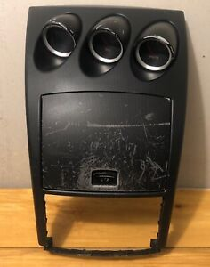 NISSAN 350Z 06 07 08 FRONT RADIO BEZEL TRIM CUBBY COMPARTMENT OEM BLACK