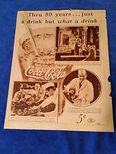 1936 Original Coca Cola Magazine ad What a Drink Diner