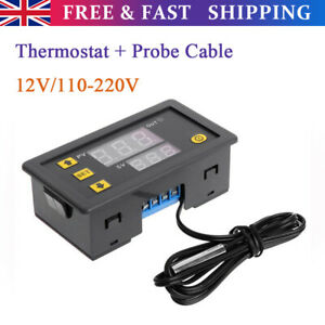 Incubator LED Digital Temperature With Control Thermostat Switch + Probe Cable