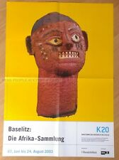 GERMAN EXHIBITION POSTER 2003 - GEORG BASELITZ AFRICA COLLECTION - NIOMBO HEAD