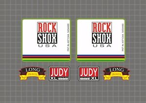 Rock Shox JUDY XL 1997 Forks Decals Stickers Graphic Set Vinyl Logo Adhesive