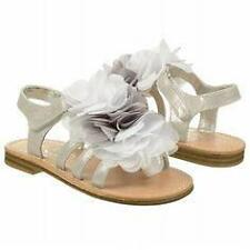 """NEW Toddler's Touch of Nina """"Flossie 1"""" - size 7 silver sandals w/wispy flowers"""