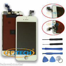 TOUCH SCREEN DISPLAY LCD RETINA SCHERMO E VETRO FRAME PER APPLE IPHONE 5S BIANCO
