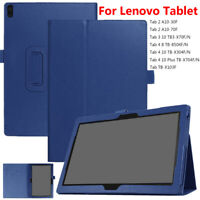 "Leather Folio Case Stand Cover For Lenovo Tab 3 4 8.0"" 10.1"" TB-X304F/N A10-30F"