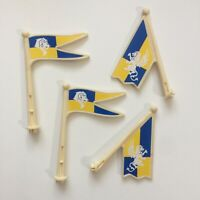 Fisher-Price TRIO King's Castle Replacement 4 Flags