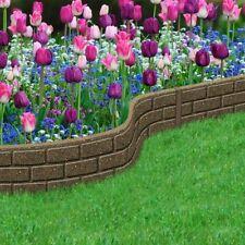Border Bricks Rubber Garden Edging Border Gardening Feature 1.2m
