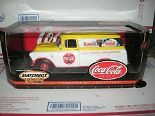 1 18 MATCHBOX 1957 COCA COLA GMC PANEL VAN WITH OPENING HOOD & ALL 4 DOORS
