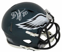 Brian Dawkins Signed Philadelphia Eagles Riddell Speed Mini Helmet- SCHWARTZ COA