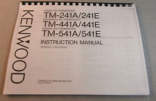 Kenwood TM-241A/TM-441A/TM-541A Operating Manual: Card Stock Covers & 28LB Paper