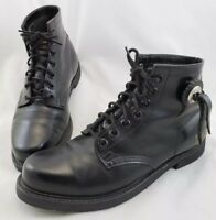 Harley-Davidson Black Leather Ankle Motorcycle Boots Men's Size 10 Made in USA