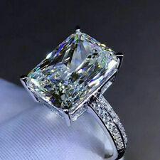 Gorgeous Women 925 Silver Rings White Sapphire Wedding Engagement Ring Sz 6-10