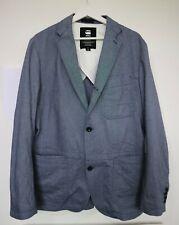 G-Star Raw Blake Blue Cotton Chambray Blazer Size Large