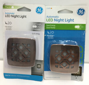 GE by Jasco Oil-Rubbed Bronze Automatic Led 2 Night Lights 25436