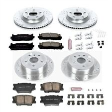 Power Stop K6480 High Performance Brake Upgrade Kit Cross-Drilled and Slotted Ro
