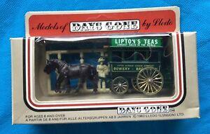 1980's Lledo DAYS GONE Horse drawn Lipton's Tea Bus, G/wheels Mint Boxed Model.