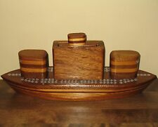 Wooden Ship Cribbage Board Crib Card Game Boat