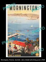 POSTCARD SIZE AUST ADVERTISING POSTER MORNINGTON VICTORIA TAKE A KODAK c1940
