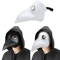 Halloween Plague Doctor Mask Bird Crow Mouth Long Nose Beak Prop Costume Cosplay
