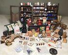 HUGE Vintage General Store Dollhouse Miniatures Lot Pieces & Accessories 1:12