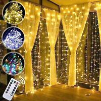 300 LED 3M*3M Fairy String Lights Indoor Outdoor Curtain Window Wedding Decor