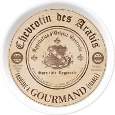 Serviertablett GOURMET CHEESE weiß beige braun Melamin Ø 38cm Creative Tops WA