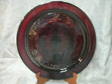 """JG Durand Cristal D'Arques ANTIQUE Ruby Red 12 3/4"""" Torte Plate Serving Dish HTF"""
