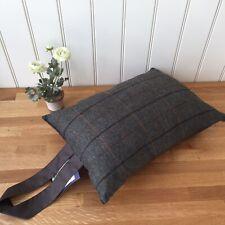Tweedmill Garden Kneeler Event Cushion Waterproof Backing Tweed Brown Gift