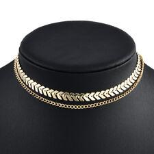 Fashion 925 Silver Gold Choker Chunky Chain Bib Necklace Women Jewelry Pendant U