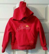 Disney Store Exclusive Princess Rainbow - Red Hooded Fleece Sweatshirt Size XXS