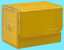 ULTIMATE GUARD XENOSKIN AMBER SIDEWINDER 80+ DECK CASE Side Loading Card Box MTG