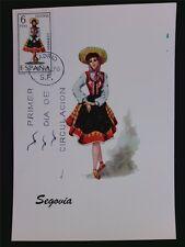 SPAIN MK 1970 COSTUMES SEGOVIA TRACHTEN MAXIMUMKARTE MAXIMUM CARD MC CM c6036