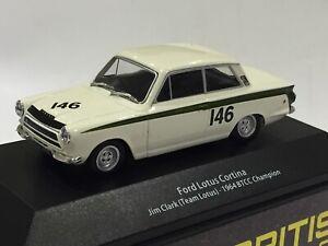 1/43 ATLAS FORD LOTUS CORTINA 1964 BTCC  BRITISH TOURING CAR JIM CLARK