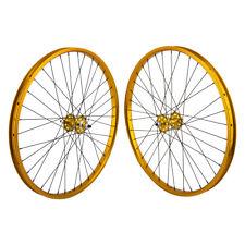 "24""x1.75"" SE Racing Sealed Bearing Wheelset BMX GOLD"