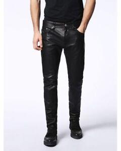 "DIESEL P-Thavar-L Leather Trousers - Black - W31"", W32"", W33"""