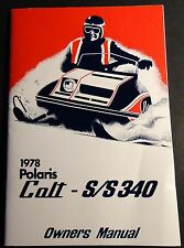1978 POLARIS SNOWMOBILE COLT & S/S 340 OWNERS MANUAL NICE  (013)