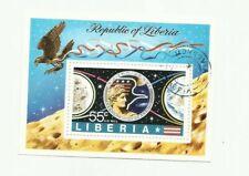 Liberia - Scott# C200 - Apollo 17 Souvenir Sheet - CTO   stk#pg