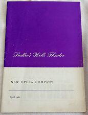 "1960s SADLER""S WELLS THEATRE PROGRAMME - ORPHEUS IN THE UNDERWORLD"