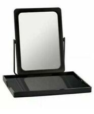 Mary Kay Portable Folding Travel Mirror & Makeup Tray Black in Mesh Bag NEW