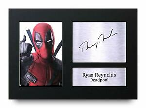Ryan Reynolds Signed A4 Framed Printed Autograph Poster Print Deadpool Gift