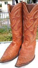 Mens Los Altos Size 9 EE Brown Pointed Toe Cowboy Boots