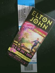 Elton John tickets Hanging Rock- 2 avail- seated section