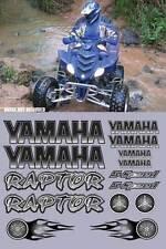 Yamaha Raptor Black Full Color 16pc Quad ATV Decals Graphics 660R, 350, 700