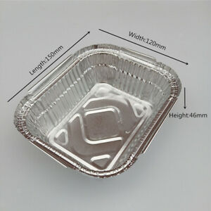 DISPOSABLE ALUMINIUM FOIL TRAYS CONTAINERS 410ML-2200ML FOR BAKING, FOOD STORAGE