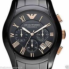 Emporio Armani AR-1411 Ceramic Chronograph Watch for Women in NEW BOX