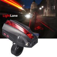 New 3X Bicycle Rear Safety Flashlight Taillight Warning Lamp 5 LED Rear Light GA
